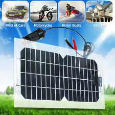 18V 5.5W Semi-Flexible Monocrystalline Solar Panel Charger For Car Motorcycles