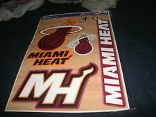 Sheet of 4 MIAMI HEAT OFFICIAL DECAL/STICKERS 12X17