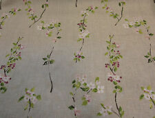STOF CERISIER APPLE BLOSSOM ROSE 100% LINEN CURTAIN FABRIC MATERIAL PER~M