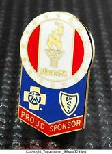 OLYMPIC PINS 1996 ATLANTA GEORGIA USA BLUE CROSS/SHIELD SPONSOR PATRIOTIC LOGO