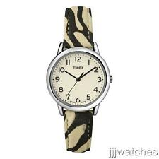 New Timex Women Zebra Patterned Leather Indiglo Dress Watch 30 mm T2N967 $47.95