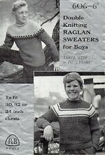 ~ Vintage Knitting Pattern For Boy's Fair Isle & Rib Sweaters To Knit ~