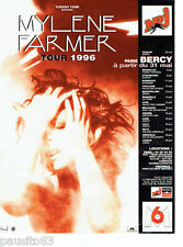 PUBLICITE ADVERTISING 066  1996  Mylène Farmer  Tuxedo Tour concert Paris Bercy