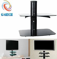 2 Tier Floating Wall Mount Bracket Shelf Sky Box DVD XBOX HIFI Unit AV Shelves