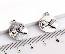 5 x  Pinky promise charms tibetan silver fr29