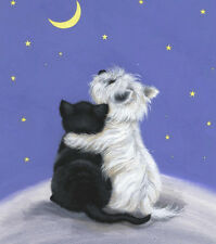 "WESTIE Open Edition Print ""Stargazing"" of Original Painting by Sue Barratt"