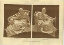 1906 War Office Sculptures, Horrors, Dignity, Alfred Drury