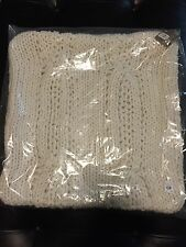 "Pottery Barn Chunky Cable Handknit Pillow Cover, 24"" Ivory"