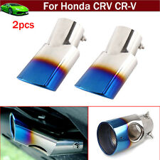2pcs Blue Exhaust Muffler Tail Pipe Tip Tailpipe Emblems For Honda CR-V CRV 2017