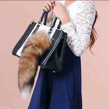 Faux Fox Tail Large Key Ring Women Bag Handbag Purse Decor Pendant Keychain Gift