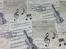 Diseñador De Notas Musicales música Cortina Tela Cojines Cortinas Sabanas Retro