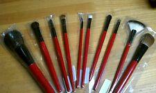SMASHBOX RED SET OF 10 AUTHENTIC BRUSHE'S