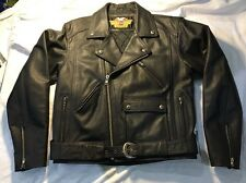 HARLEY DAVIDSON Black Leather Jacket. Mens Medium