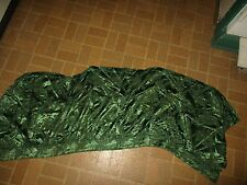 """CLASSICAL GREEN DAMASK PATTERN WINDOW VALANCE 66"""" x 26-1/2"""" J.Wippell England"""