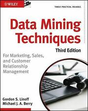 Brand New Data Mining Techniques Third Edition Gordon Linoff Michael Berry