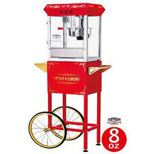 Red 6097 8-oz Foundation Popcorn Machine and Cart