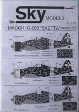 Skymodels 1/72 72061 MACCHI mc-200 seatta Decalcomania Set