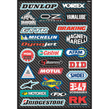 FACTORY EFFEX SPONSOR STICKER DECAL SHEET SHOEI MICHELIN ALPINESTARS