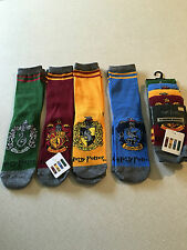 HARRY POTTER 4 PACK SOCKS..SIZE 4-8.GRYFFINDOR..HUFFLEPUFF..RAVENCLAW..SLYTHERIN