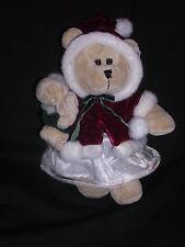 Starbucks Bearista Teddy Bear Winter Coat w Hood Fur Trim 2005 Mint With Tags