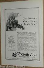 1924 FRENCH LINE advertisement, Compagnie Générale Transatlantique, steamship
