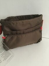 BNWT TINTAMAR VIP VERY IMPORTANT POCKET DARK BROWN HANDBAG ORGANISER