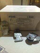 """(#4326G) 1 1/2"""" Hot Dipped Galvanized Ridgid Pipe Clamps Unistrut Channel 10/PK"""
