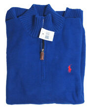 RL Polo Ralph Lauren Mens Pony Logo Mockneck Heavy Knit Cotton Half Zip Sweater