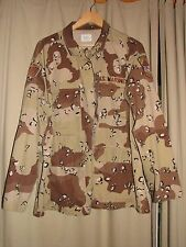 Desert Shield U.S. Marines Military Camoflague Combat Coat with patches Size XL