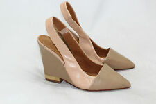 Tory Burch Pointed Toe Slingback Wedge Pump - Tan / Beige - Size 7 M $295 (V49)