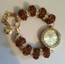 Figaro Couture Women's Copper Crystal Bracelet Watch