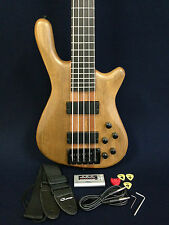 Haze SPB-3214N 5-String Neck-thru Electric Bass Guitar Natural w/Free gig bag