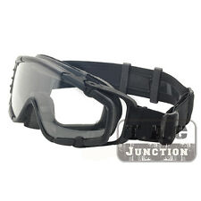 Tactical Anti-Fog Ballistic Goggle Interchangeable Glasses Eyewear w/ Turbo Fan