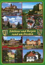 Alte Postkarte - Schlösser und Burgen rund um Dresden