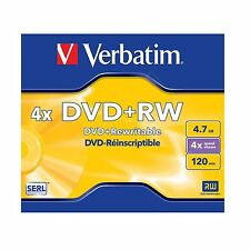 VERBATIM DVD+RW 4.7 GB 120MIN (4x) Dvd Rewritable 43228 DVDRW
