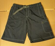 COLUMBIA OMNI SHADE NYLON MESH LINED ELASTIC WAIST BELT SHORTS MENS SMALL L9