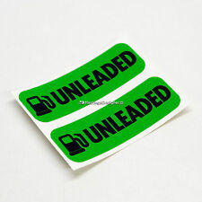 2x UNLEADED FUEL Laminated Weatherproof Car,Van,Taxi,Bus Vinyl Label Stickers