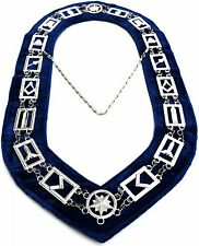 MASONIC REGALIA MASTER MASON BLUE LODGE SILVER METAL CHAIN COLLAR 001