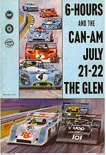 VINTAGE REPRODUCTION RACING POSTER 1973 6 HOURS CAN-AM WATKINS GLEN UOP SHADOW