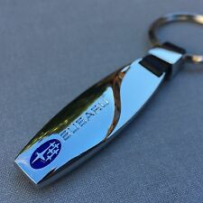 NEW SUBARU LOGO METAL CHROME KEYCHAIN KEY-CHAIN Key Ring KC08