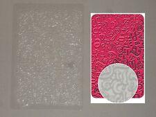 Plaque de texture (thème:méli-mélo lettres ) pour pâte polymère, fimo