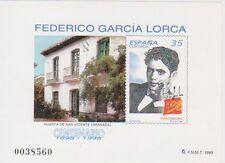 ESPAÑA 1998, PRUEBA OFICIAL 65. Motivo: CENTENARIOS. GARCÍA LORCA