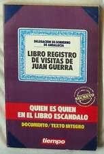 LIBRO REGISTRO DE VISITAS DE JUAN GUERRA - QUIÉN ES QUIÉN EN EL LIBRO ESCÁNDALO