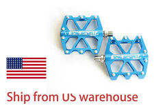 New TMC 9/16 Blue Metal Alloy Aluminum Mountain Bike Bicycle MTB BMX Flat Pedals