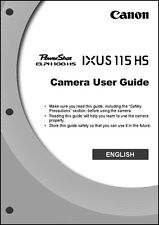 Canon ELPH 100 HS IXUS 115 HS Digital Camera User Guide Instruction  Manual