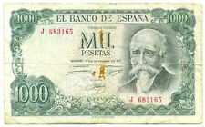 Spain Republic Banco de Espana 1000 Pesetas 1971 Commemorative 1974 F Pick #154
