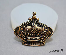 Royal Crown SILICONE MOULD - resin, clay, fimo, sugarcraft MOLD ornament