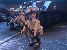 PLAYMOBIL CUSTOM US SUB. .ARMORED CAVALRY(FRANCE-1944) REF-0175 BIS