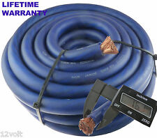 Voodoo 1/0 0 AWG gauge power cable wire Blue 25 ft -True AWG spec - flexible