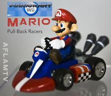 "New Super Mario Large 5"" x 3"" MarioKart Pull-Back Racers Goldie wii kart car"